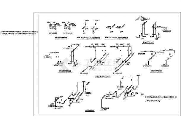 MBR膜处理中水回用系统设计CAD图纸-图一