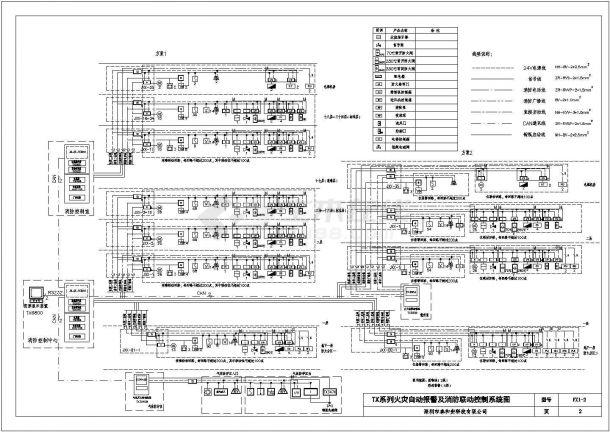 经典火灾自动报警及消防联动控制系统CAD施工平面图( 含设计说明 )-图二