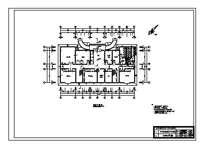 某市三层钢筋混凝土框架结构机械厂办公楼建筑施工cad图(含计算书,毕业设计)-图一