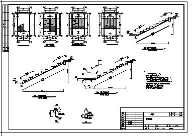 2000平米某市六层现浇钢筋混凝土框架结构综合楼结构施工cad图(含毕业设计)-图二