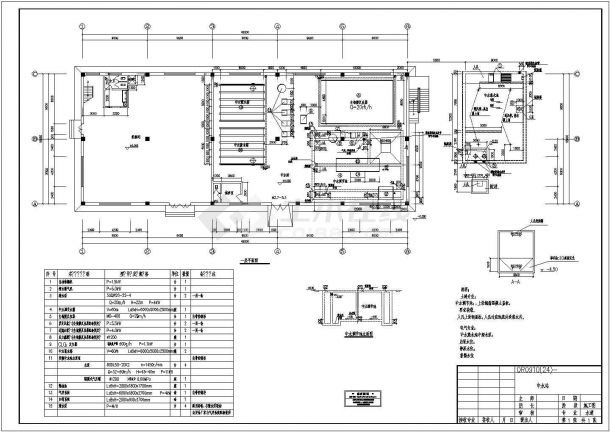 某大型工业中水站CAD节点完整施工图设计图-图一