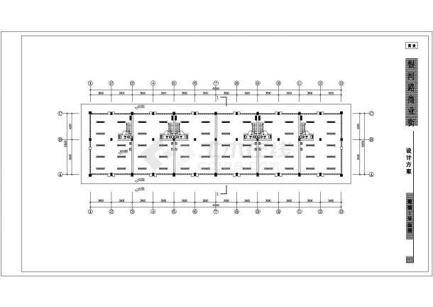 商铺方案电气设计图纸cad图纸-图一