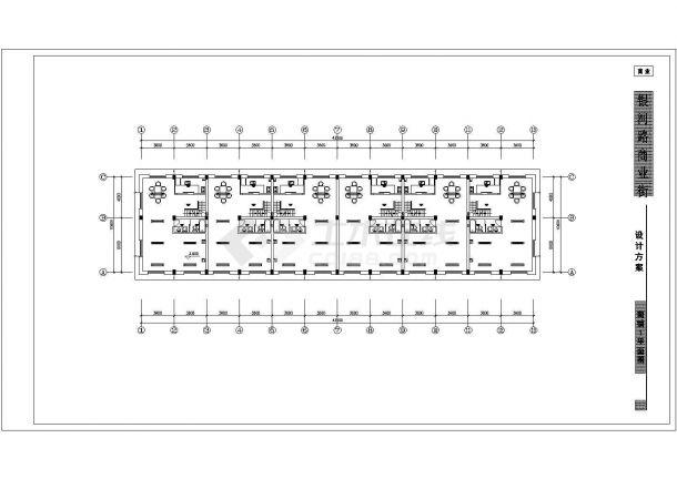 商铺方案电气设计图纸cad图纸-图二