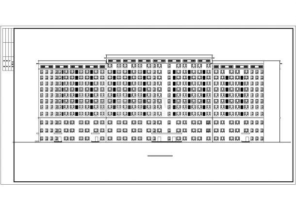 某多层框架结构五星酒店公共建筑部分设计CAD立剖面方案图纸-图二