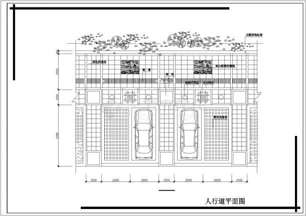 成都某公园小广场整体环境景观设计CAD图纸-图二