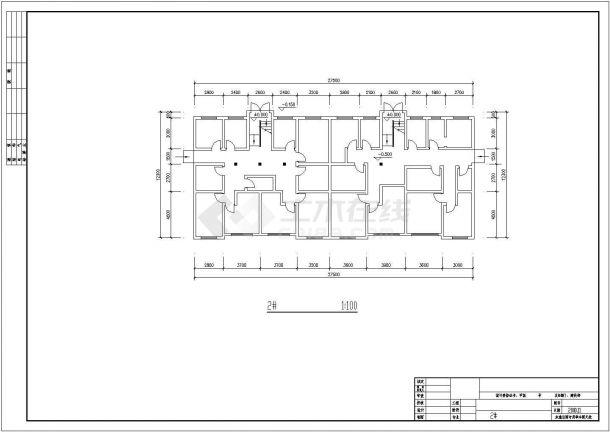 占地680平米6层砖混结构住宅楼平立剖面设计CAD图纸(含总平面图)-图一