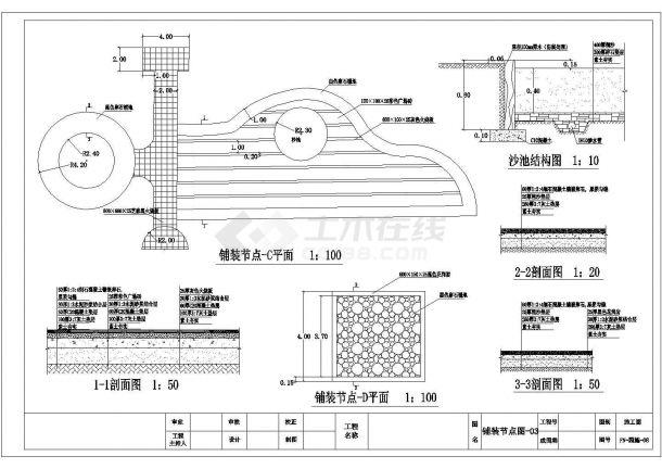 唐山市某大型湿度公园园林景观设计CAD图纸-图二
