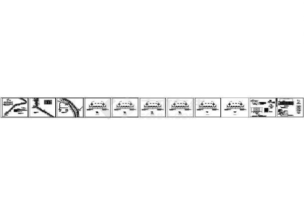 某段道路照明系统布线(cad)图纸-图一