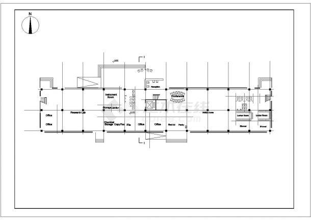 某市大型厂房建筑施工图-图二