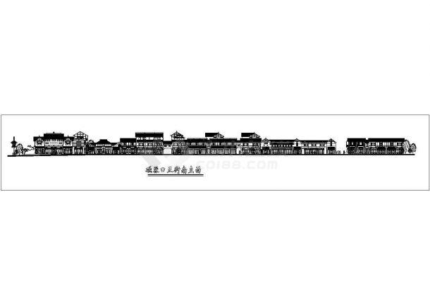 磁器口步行街设计cad立面方案图-图一