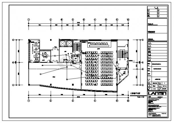 办公楼设计_七层办公楼电气施工cad图,共二十三张-图一