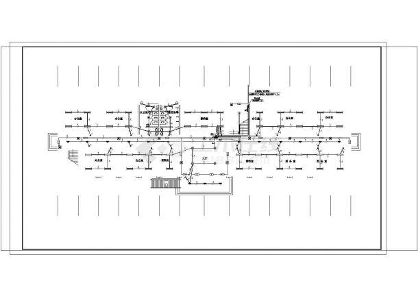 办公楼设计_三类建筑四层办公楼电气施工图.cad-图二