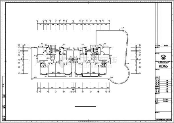 上海某沿街8层商住楼给排水系统设计CAD图纸-图一