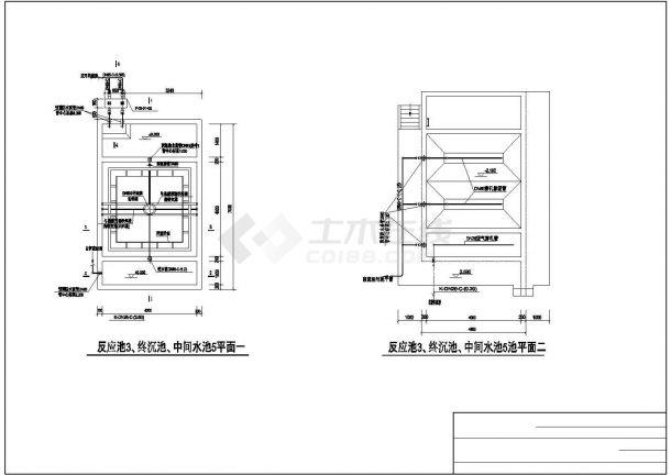 某300吨香料香精废水处理工艺设计详细方案CAD图纸-图一