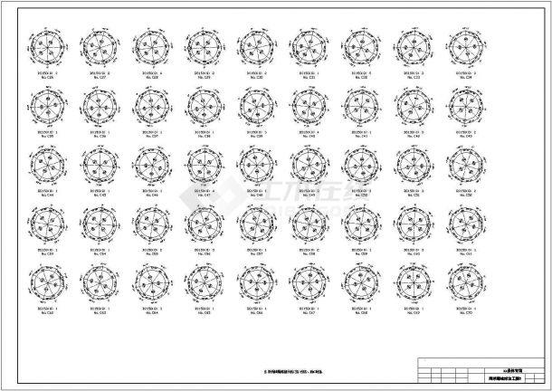 【最新】某84米直径圆形网壳结构体育馆设计方案CAD图纸-图一