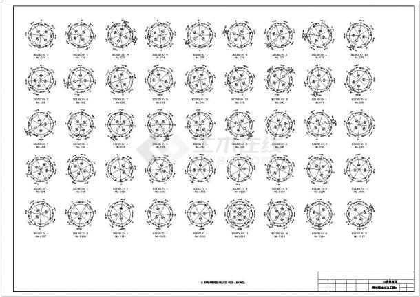 【最新】某84米直径圆形网壳结构体育馆设计方案CAD图纸-图二