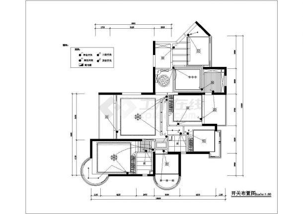 某高档私人住宅(四室两厅)室内装修设计cad图纸-图一