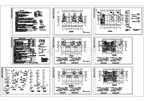 住宅地暖给排水设计cad施工图-图二