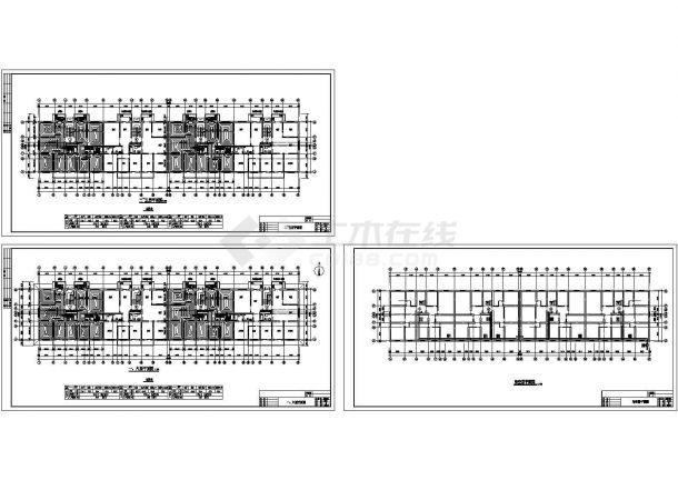 某六层住宅地暖设计cad施工图-图二