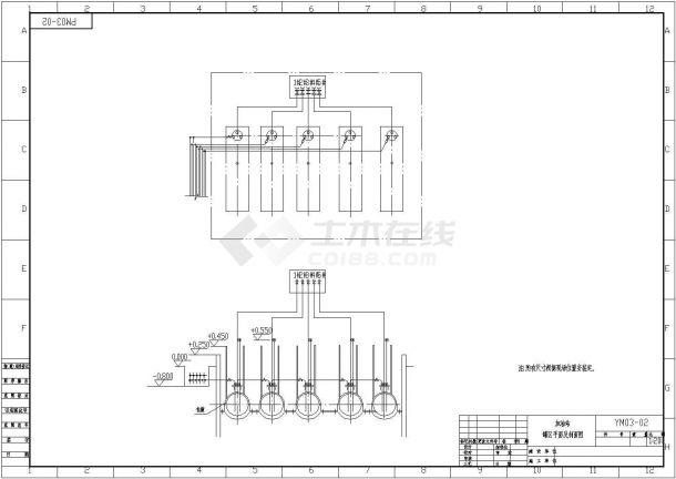 某加油站避雷防静电平面布置图设计-图二