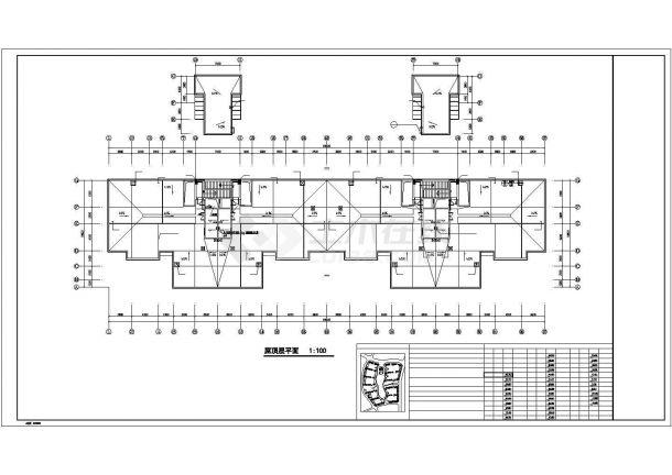 [内蒙]高层商住楼给排水消防施工图(直饮水系统)cad图纸-图一