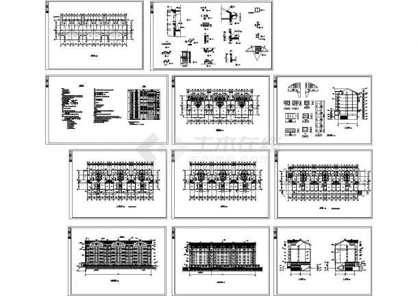 6580平方米碧海花园多层住宅楼规划设计建筑施工cad图,共十一张-图一