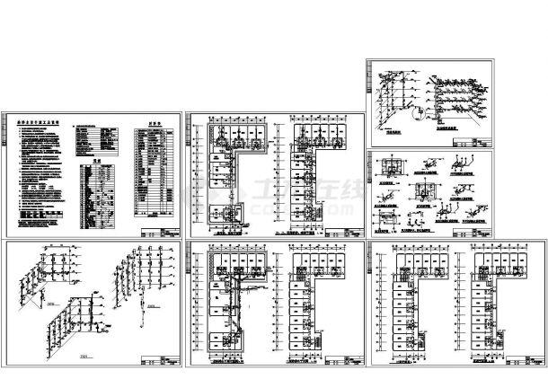 某宾馆多层建筑给排水设计图纸-图二