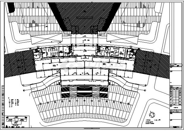 某城市二十一层带地下一层行政综合服务中心电气施工cad图(含强电,弱电,消防设计)-图一