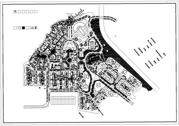某多层居民楼小区规划设计cad总平面施工图(标注详细)-图一