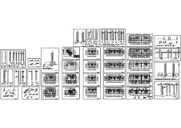 某26层综合楼给排水CAD设计全套图纸-图一