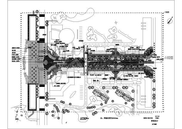 某现代高档多层住宅小区规划设计cad总平面施工图(标注详细)-图一