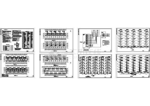 6层住宅电气设计全套施工图纸-图二