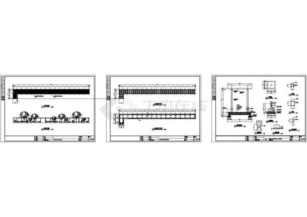 长廊建筑设计施工图-图一