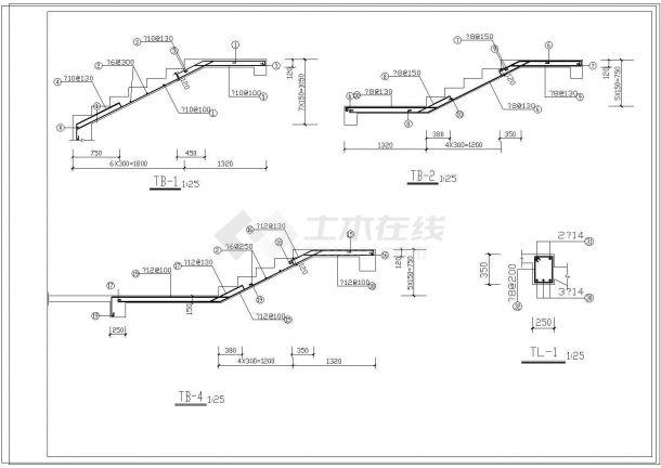 3层农村房屋建筑结构施工图纸带效果图-图一