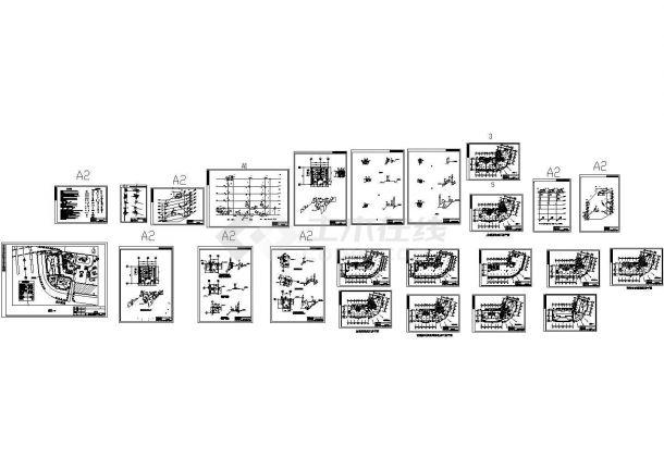 某六层办公综合楼给排水设计施工图-图一