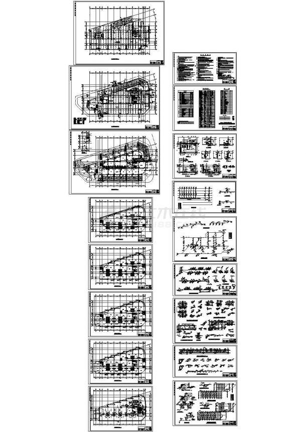 某街综合楼给排水设计施工图-图一