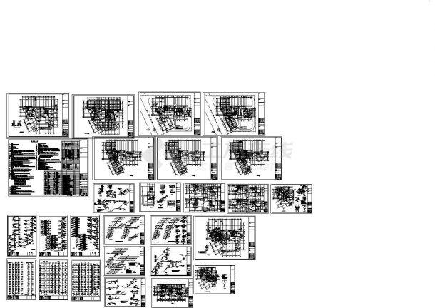 某十九层高层住宅楼给排水施工图-图一