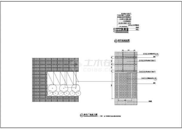 停车场建筑设计施工图-图一