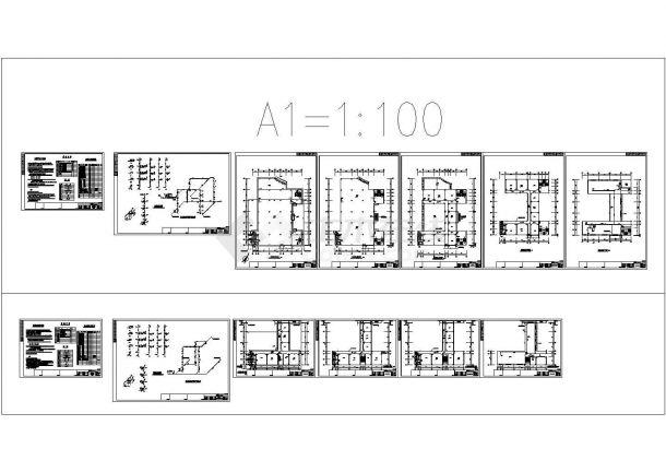 某公司四层综合楼给排水CAD设计图-图二