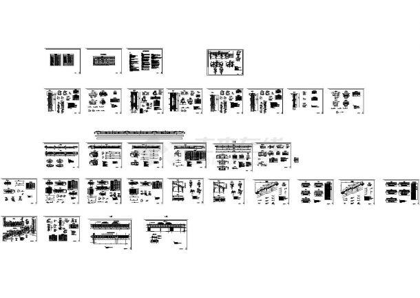 三跨等高度预应力连续箱梁人行天桥设计图-图一