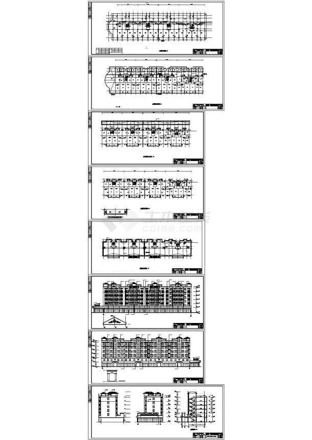 某地上六层(一层底商)框架结构住宅楼设计cad全套建施图(甲级院设计)-图二