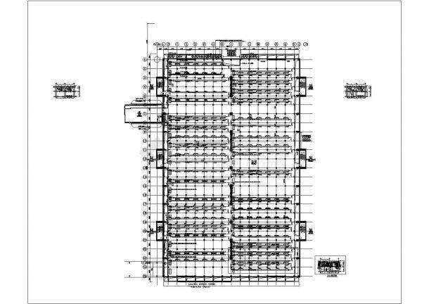 某厂房废气处理系统设计cad施工图-图一