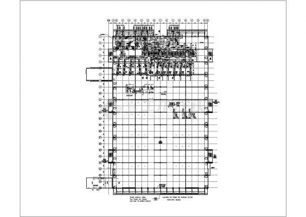 某厂房废气处理系统设计cad施工图-图二