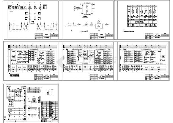 某10KV配电系统设计cad图,共七张-图一