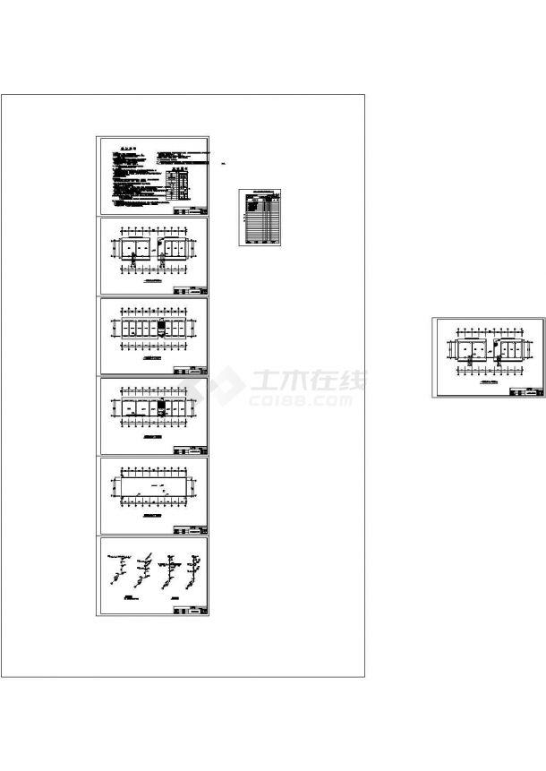 某县兽医站三层办公楼给排水设计图纸-图二