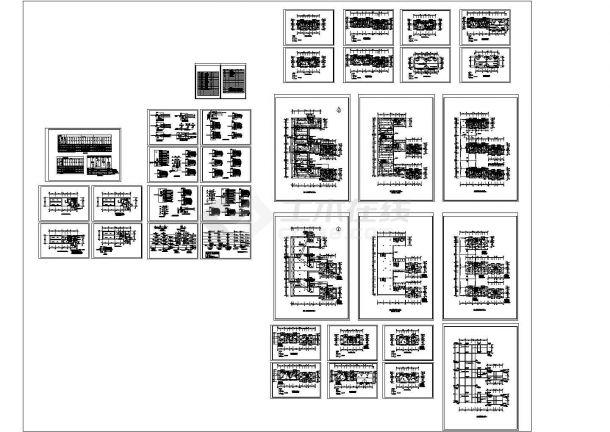 多层住宅电气及高低压配电系统设计施工cad图纸,共三十四张-图二