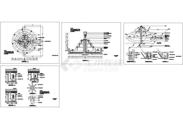 某标志性水景CAD设计给排水施工图-图二