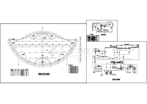 某五星级大酒店游泳池CAD设计图纸-图二