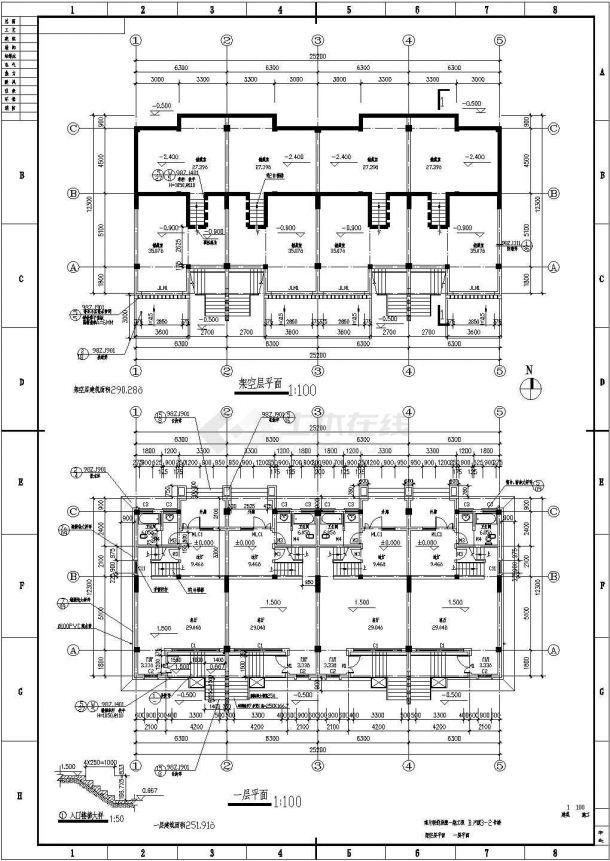 多层联排别墅建筑设计方案图-图二