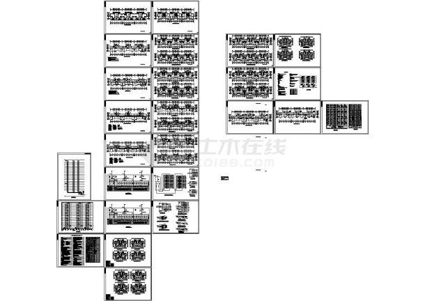 世纪金源社区住宅配电系统设计施工cad图纸,共二十六张-图一